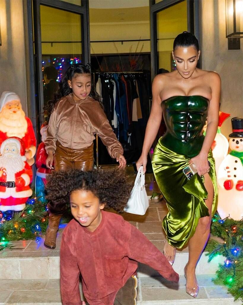 Kim Kardashian Northwest Saint West Christmas 2020